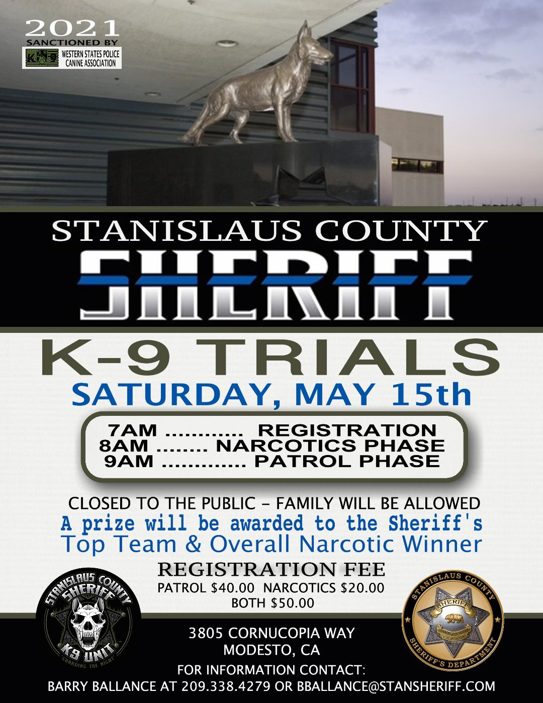 Stanislaus County 2021 K9 Trials
