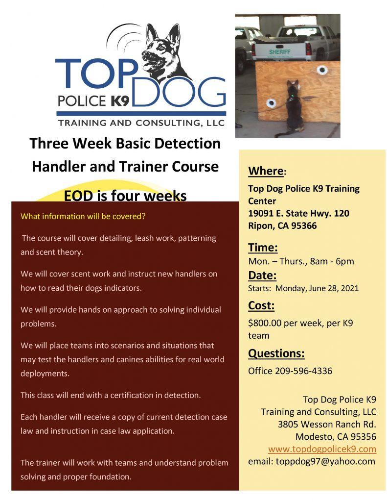 Basic Detection Handler Course June 28, 2021